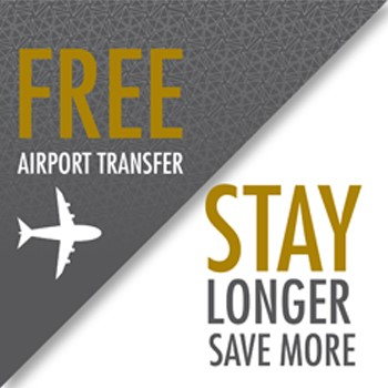 Stay Longer. Save More. Free Airport Transfer.